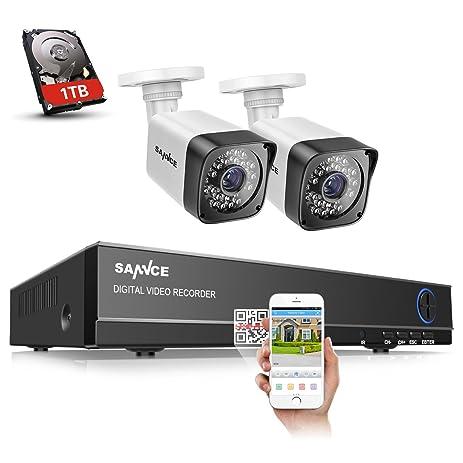 amazon com sannce 8ch 1080p lite hd dvr wired security cctv rh amazon com