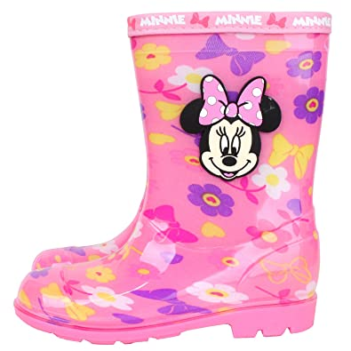 Amazon disney minnie mouse girls pink flower rain boot shoes disney minnie mouse girls pink flower rain boot shoes parallel importgeneric product mightylinksfo