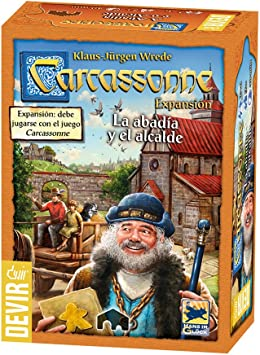 Devir-Carcassonne-La abadia y el Alcalde, Juego de Mesa BGCARAB, única: Amazon.es: Juguetes y juegos