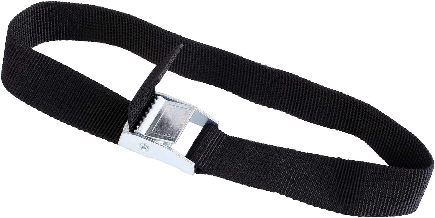 ratchet for attaching to bicycle carrier lashing straps with clamping lock black, 40 cm long Fixkit 10 lashing belts