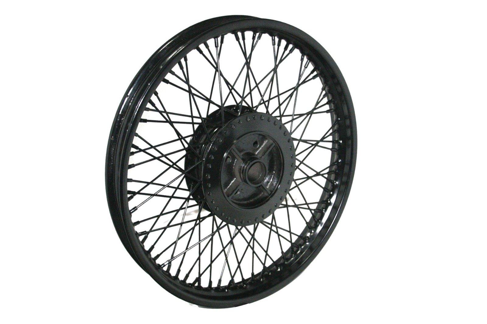 Enfield County 72 Spoke Rear Black Powder Steel Wheel Rim Wm2-19'' Royal Enfield Bullet
