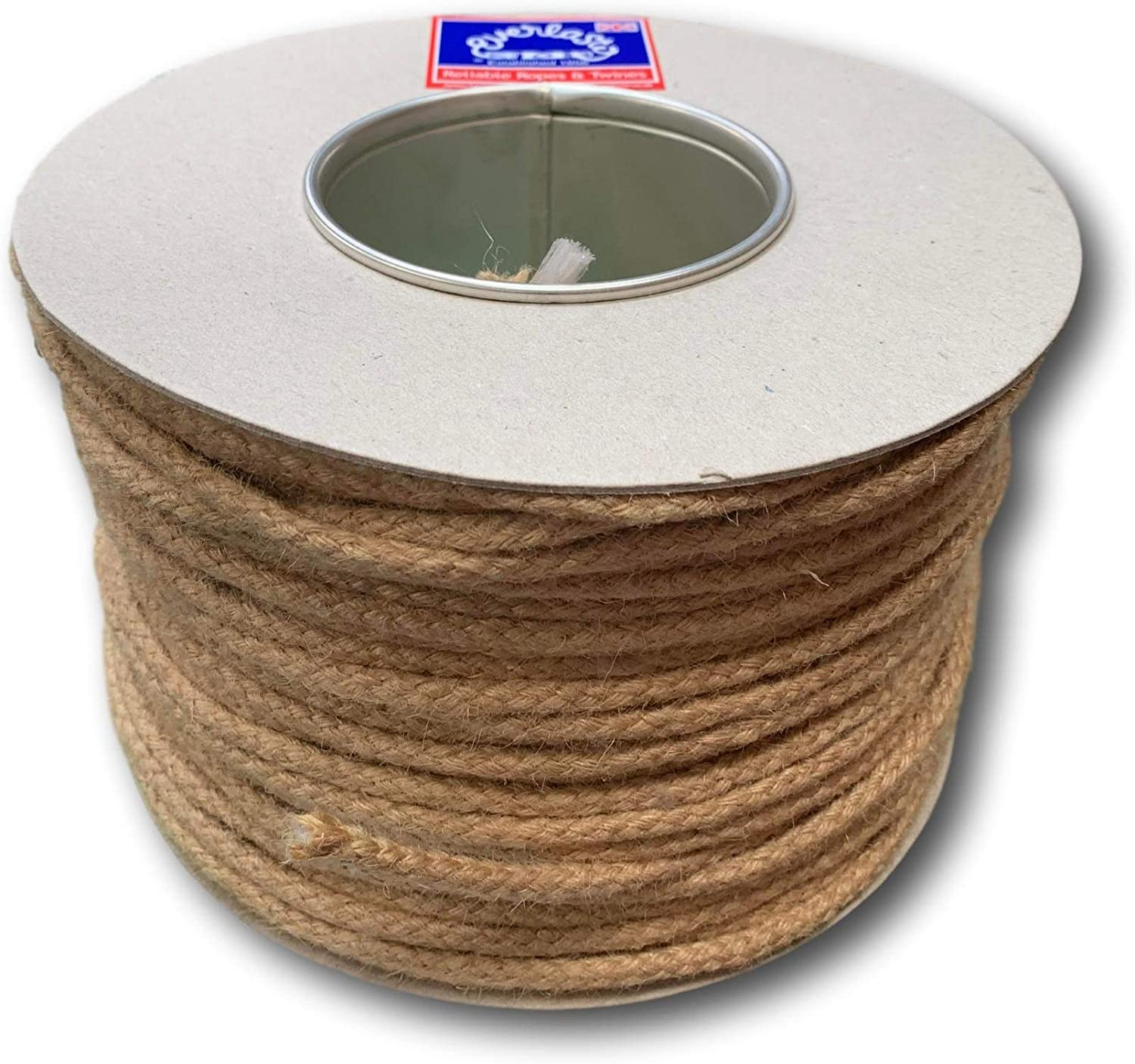 x 10M 6.5mm Everlasto Plaited Jute Sash Cord with Strong Polypropylene Core No.4