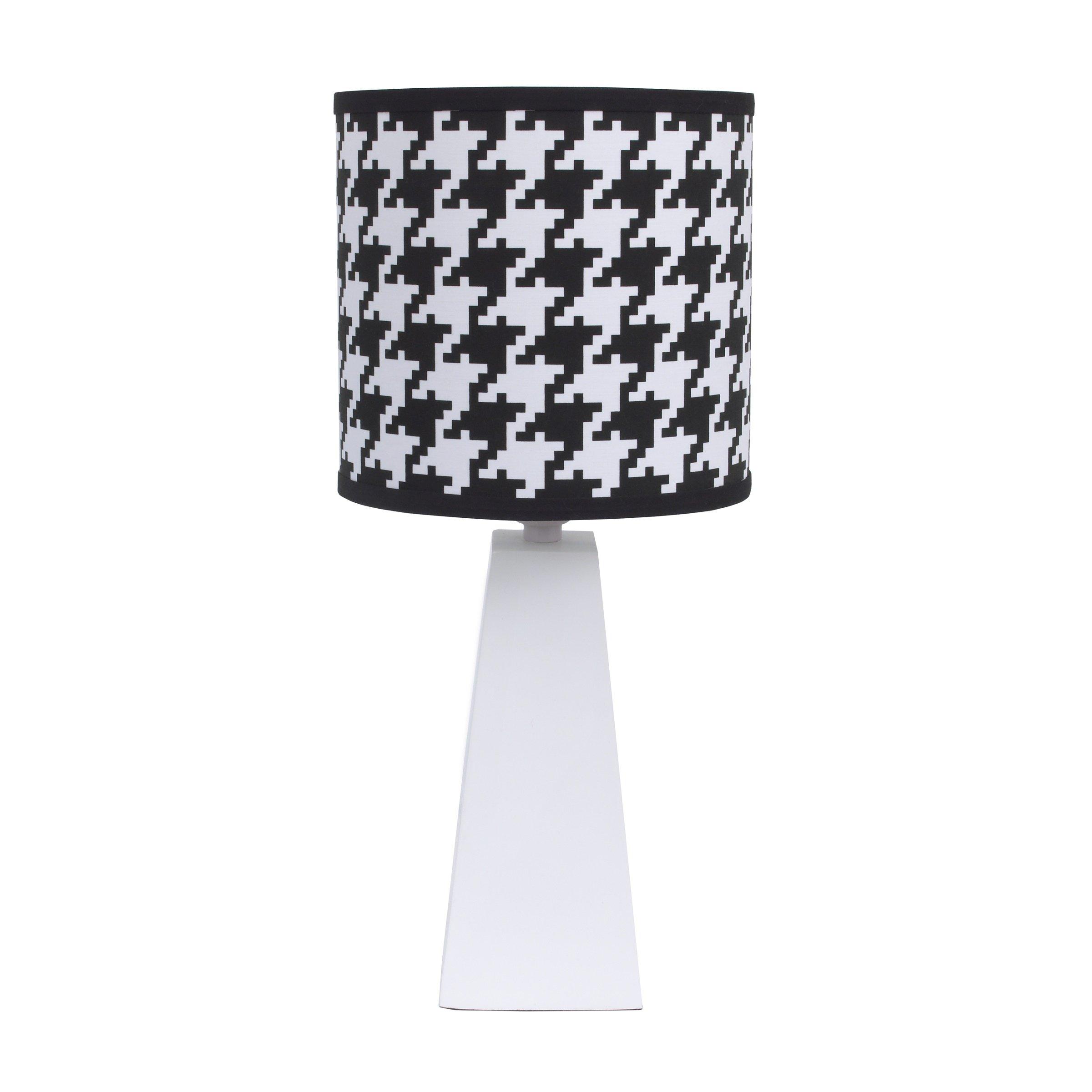 NoJo NoJo - Roar - Lamp & Shade, Black, White, Aqua