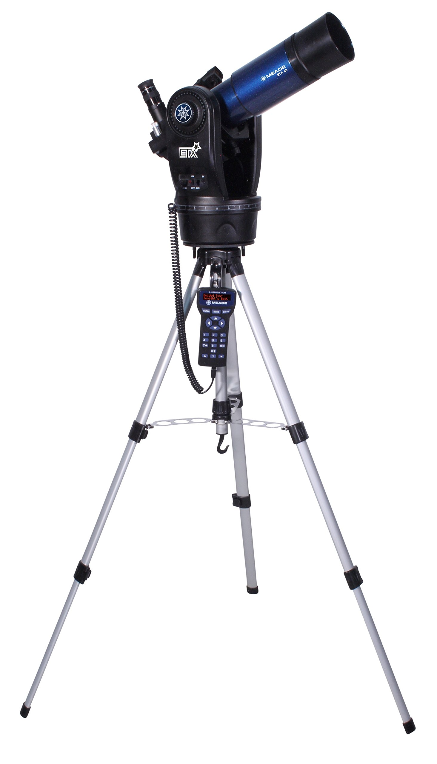 Meade Instruments 205002 ETX80 Observer Achromatic Refractor Telescope with Adjustable Field Tripod, Eyepieces and Deluxe Backpack by Meade Instruments