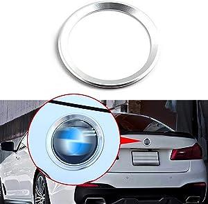 Xotic Tech Emblem Logo Ring, Car Front Hood Back Trunk Lid Logo Chrome Ring Decoration Emblem Ring Trim Compatible with BMW 3 4 Series M3 M4 E36 E46 E90, Aluminum Silver 75mm/ 3