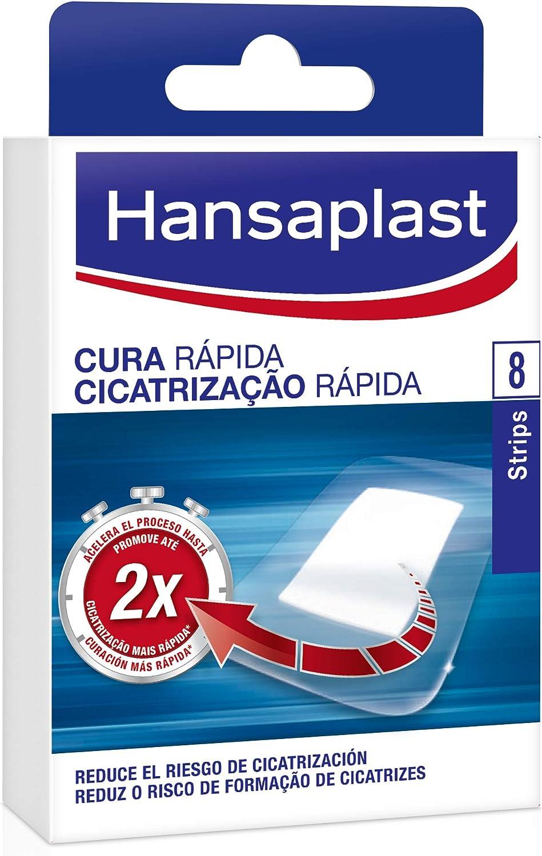 Hansaplast Apósito Cura Rápida, apósitos cicatrizantes para acelerar el proceso de curación, tiritas transpirables y resistentes al agua para curar heridas, 1 x 8 ud