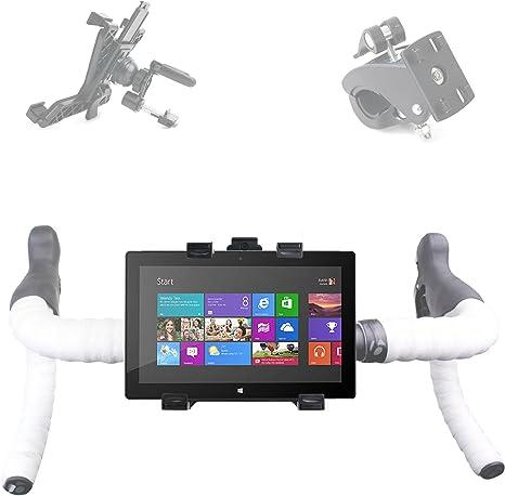 Soporte universal para tablet, compatible con tablets de 7 a 12 pulgadas-para manillar y de coche giratorio 360°, color negro: Amazon.es: Informática