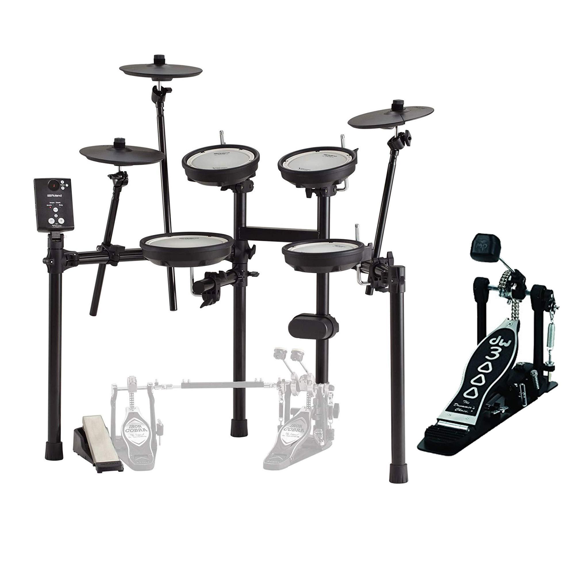 Roland TD-1DMK V-Drums Electronic Drum Set Bundle w/Bass Drum Pedal & Throne