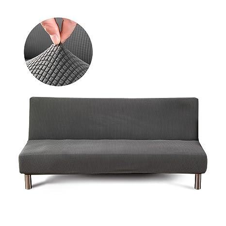 Cornasee Funda de sofá Elastica 3 plazas de Tejer,Cubiertas/Fundas para el sofá sin Brazos,Gris