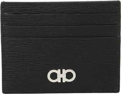 Salvatore Ferragamo Women s Revival Gancio Credit Card Case - 66A302  Black Red One Size bde91dede815f