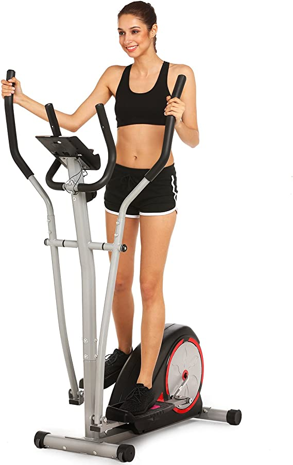 Amazon.com : Simpfree Elliptical Machine Trainer Magnetic Smooth Quiet Driven, Top Levels Elliptical Trainer (Black) : Sports & Outdoors
