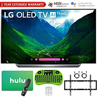 "LG 77"" C8 OLED 4K HDR AI Smart TV (2018 Model) with Bonus $100 Hulu Card + Wall Mount Kit and More - OLED77C8"