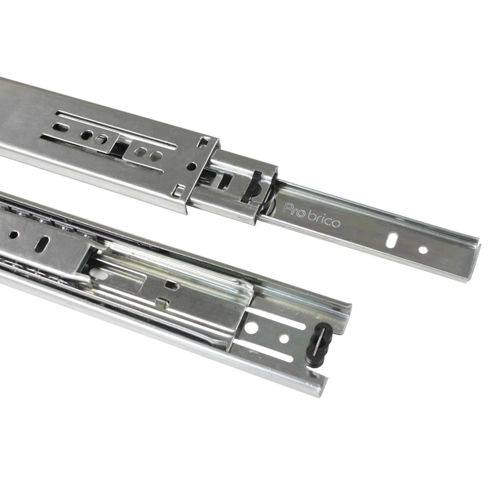 2 Pairs 22 inch Full Extension Side Mount Drawer Slides 3-Folds Ball Bearing Heavy Duty 100 lb Thickness:1.01.01.2mm by Probrico (Image #5)