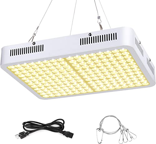 LED Grow Light, Roleadro 1500W Grow Light 3500k Sunlike Plant Light Full Spectrum Dual-Chip with ON Off Switch and Daisy Chain for Indoor Plants for Seedling,Vegetative,Succulent,Micro Greens,Clones