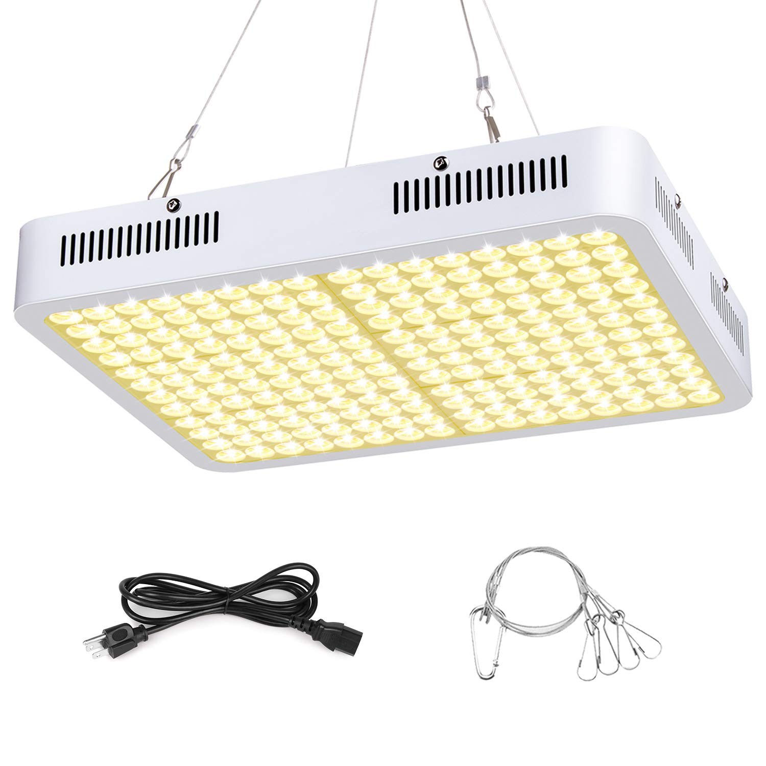 LED Grow Light, Roleadro 3500k Sunlike Plant Light 1200W Full Spectrum Dual-Chip with ON/Off Switch and Daisy Chain for Indoor Plants for Seedling, Succulents,Micro Greens, Clones, Vegetative, Flower