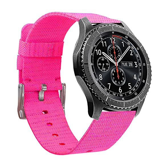 Compatible Samsung Galaxy Watch 46mm Bands & Gear S3 Bands - 22mm Premium Woven Nylon Sports Strap Wrist Band for Galaxy Watch 46mm & Gear S3 ...