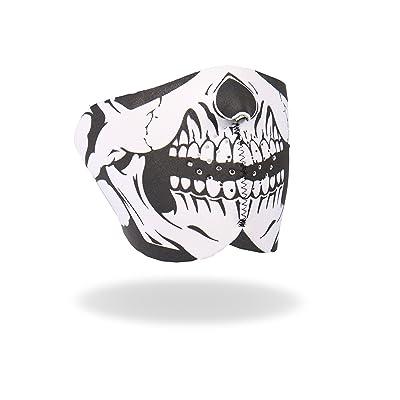Hot Leathers Neoprene Skull Half Mask (Black): Automotive