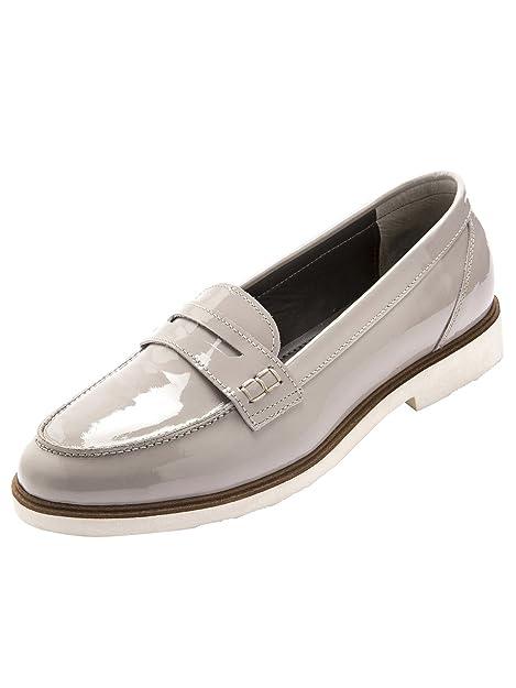 Balsamik Mocasines charol piel - Mujer - Size : 36 - Colour : Gris claro: Amazon.es: Zapatos y complementos
