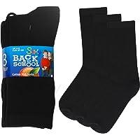 12 Pairs Boys/Girls Ankle Cotton Rich Plain School Socks Shoe Sizes 6-8, 9-12, 12-3, 4-6