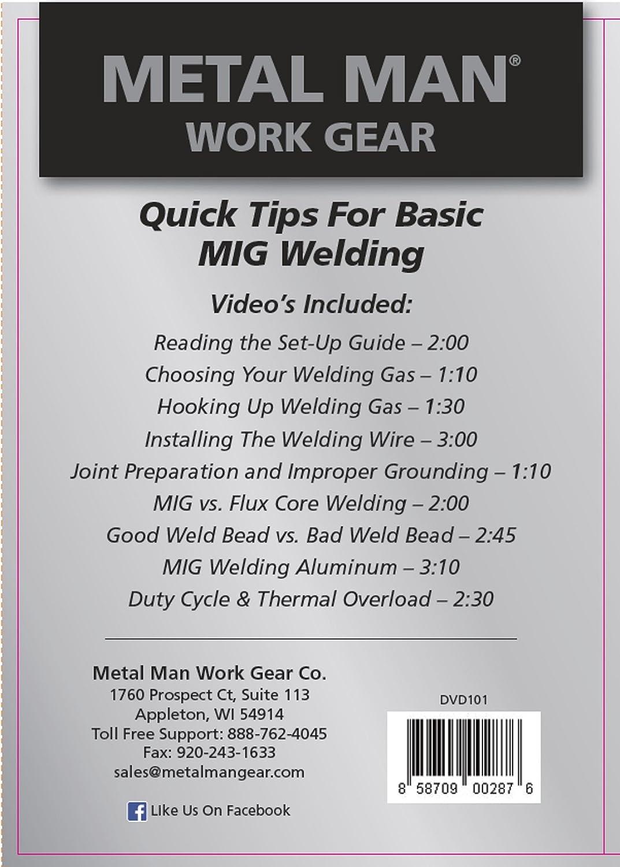 Metal Man DVD101 Quick Tips For Basic MIG Welding DVD - - Amazon.com