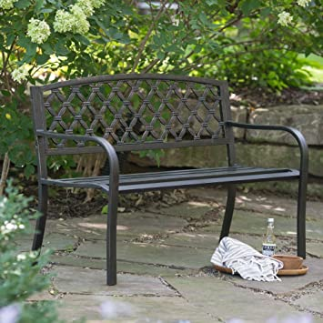 metal garden bench argos coral coast curved back ft furniture for sale sets uk
