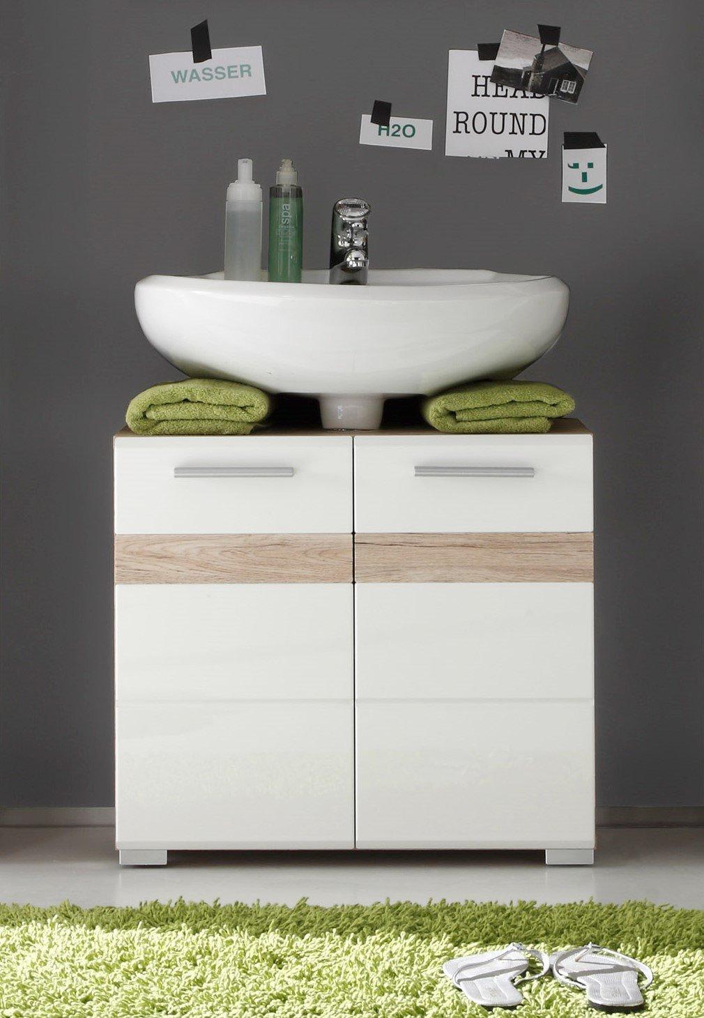 trendteam Badezimmer Waschbeckenunterschrank Unterschrank Set One ...