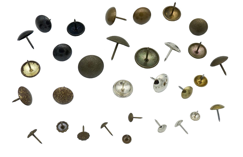 100 Chincheta dorada decorativa de /Ø 14 mm tachuelas para manualidades unidades