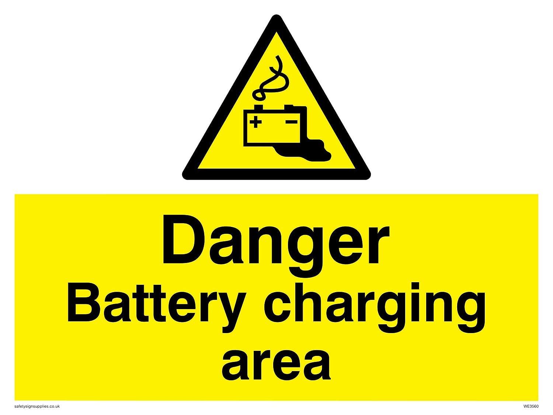 Signo de seguridad zona de peligro de carga de la batería