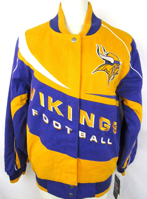 Minnesota VikingsレディースコットンツイルスナップフロントジャケットAvik 22 M L 3 X L Medium  B017PEK1NY