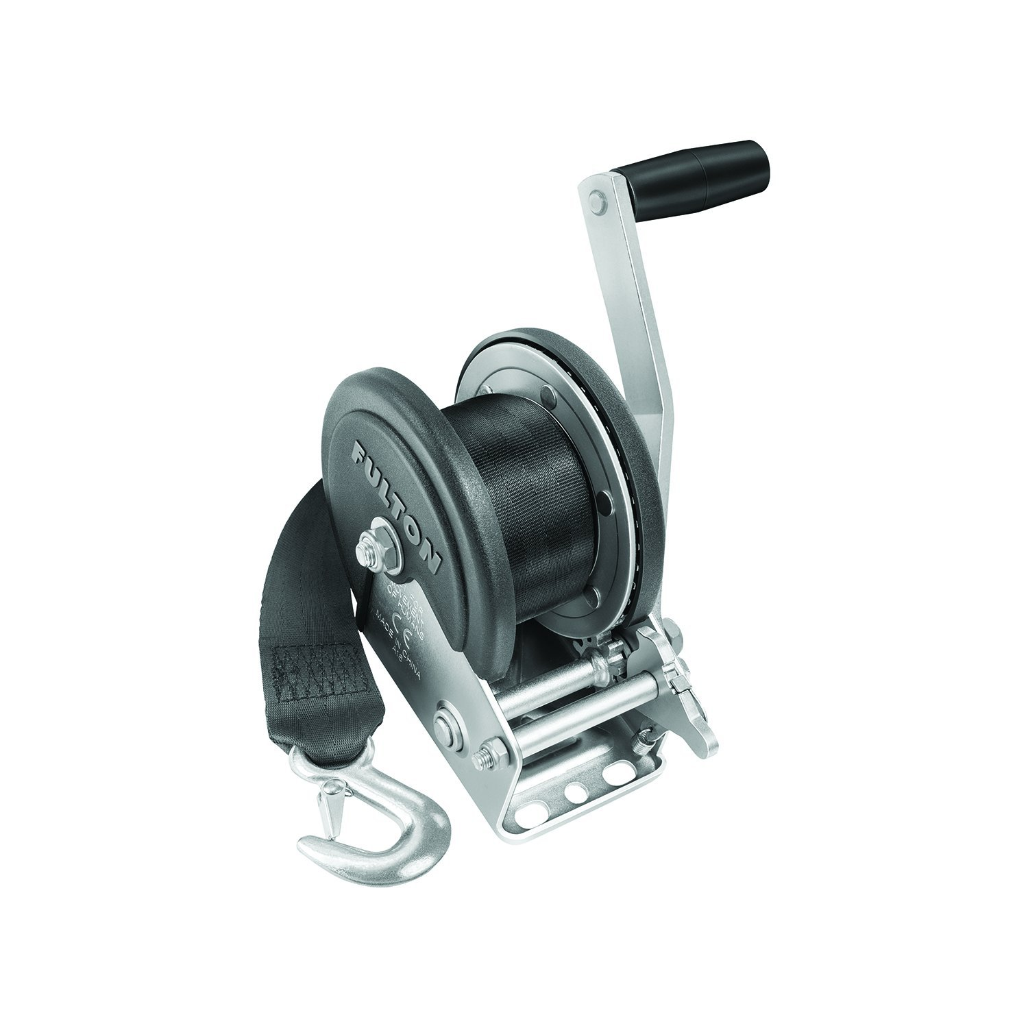 Fulton 142208 Single Speed Winch with 20' Strap and Cover-1500 lbs. Capacity