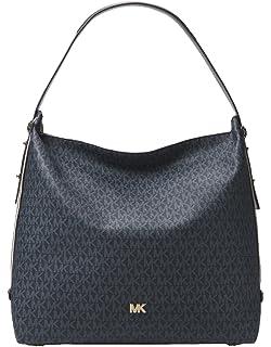 50afbd17561a9f MICHAEL Michael Kors Griffin Large Logo Jacquard Shoulder Bag - Nat ...