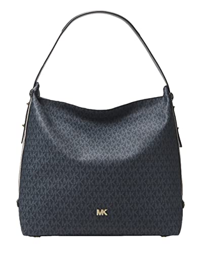 0a5a39e82716 MICHAEL Michael Kors Griffin Large Logo Shoulder Bag - Admiral/PlBlue