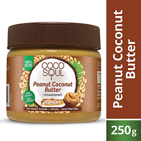 Coco Soul Peanut Coconut Butter, Crunchy, 250g