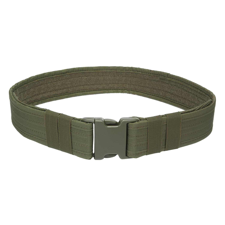 niceEshop(TM) Cinturón Táctico - Cinturón de Nylon de Uso Pesado de Engranaje de Combate de 2,1 Pulgadas de Utilidad con Hebilla de Liberación Lateral para Deportes al Aire Libre y Caza, Negro