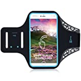 iphone 6 Plus 6S Plus 7 Plus 8 Plus Running Armband Phone holder for Samsung S7 Edge S6 Edge S7 S5 S6 Edge Plus Jogging Bike Cycling Arm Strap Sports Band Dual Arm-size Slots Sweatproof Sweat Resistant with Key Pocket for Smartphone under 5.7 inch