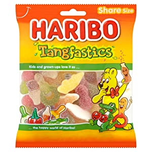 Original Haribo Tangtastic Gummy Candy Imported From The UK England The Best Of British Gummy Candy HARIBO Tangfastics Bag, 140 g