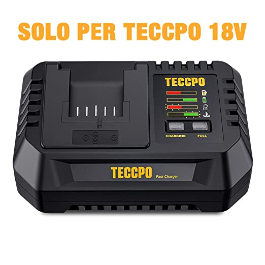 TECCPO Cargador Rápido, Cargador de Batería 2Ah y 4Ah ...