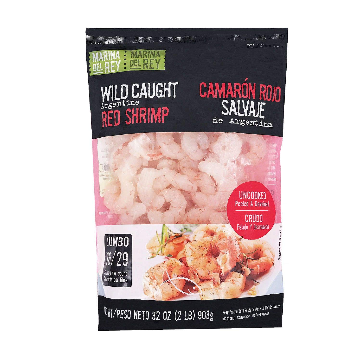 Wild Caught Argentine Red Shrimp (2 lbs.) (2): Amazon.com ...