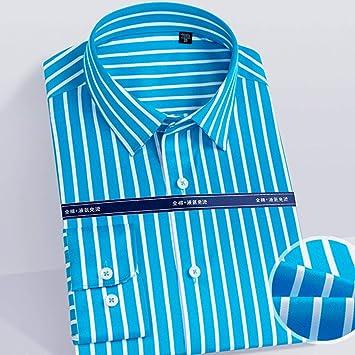 Camisas a Rayas de Color de Moda 100% algodón sin Planchar ...