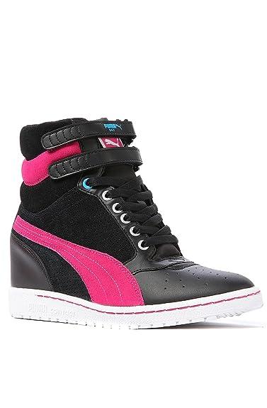Puma Sky Wedge Sneaker 7.5 Black