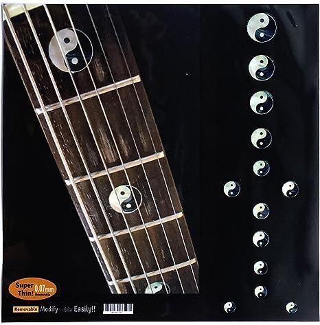 Adhesivo decorativo para guitarra y bajo con incrustaciones de ...