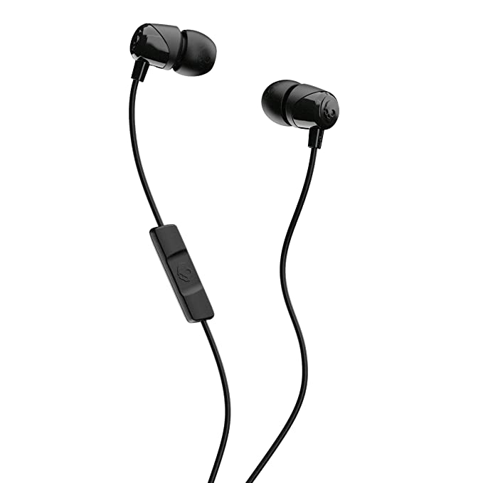 Skullcandy Jib Wired in Earphone with Mic  Black  Wired Headsets