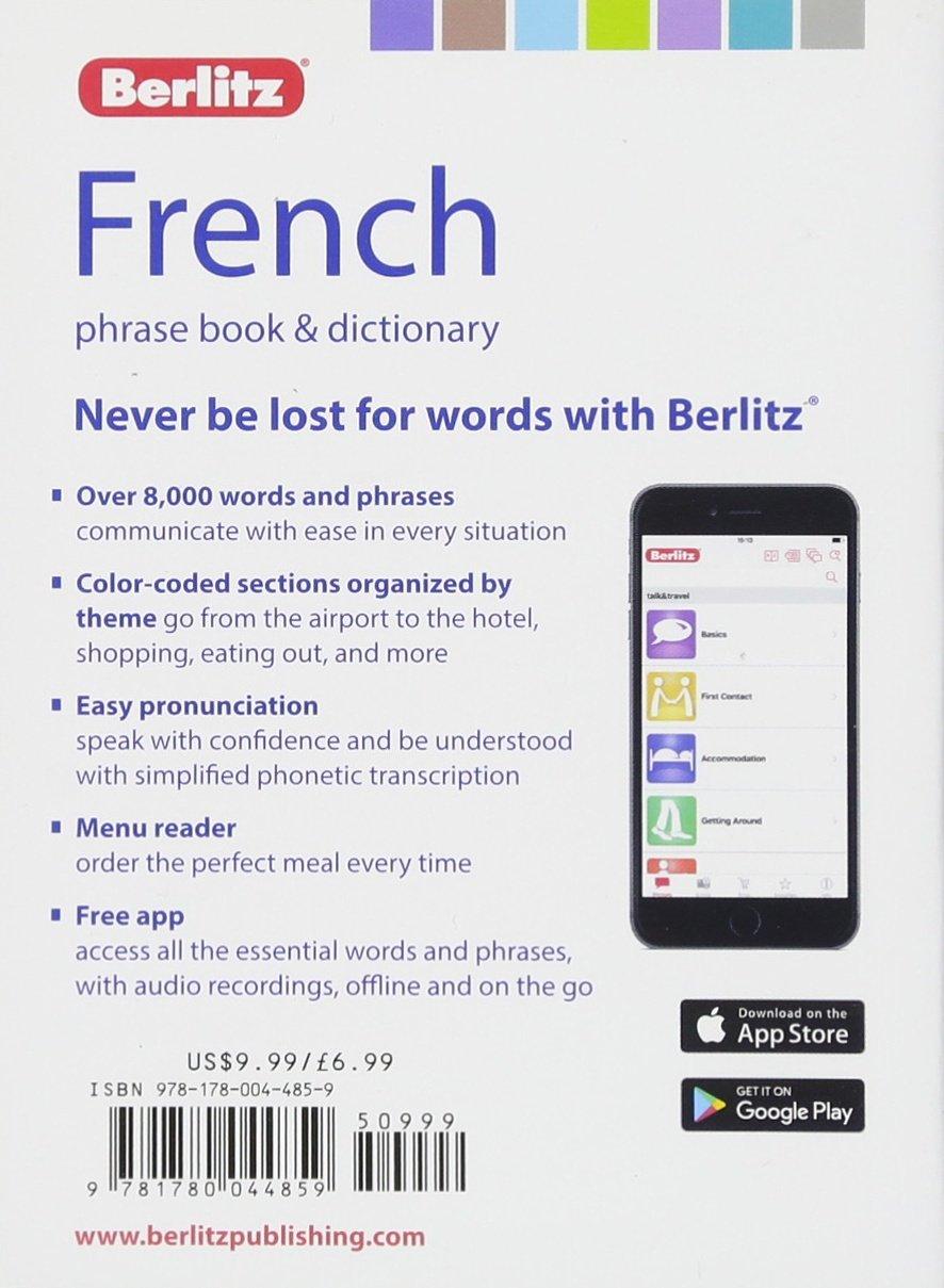 Berlitz Phrase Book & Dictionary French (Berlitz Phrasebooks