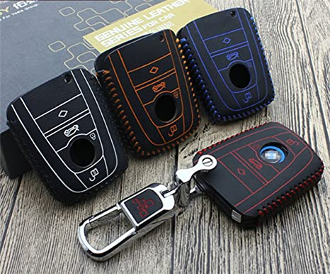 Amazon Com Leather Remote Car Key Case Cover For Bmw I3 I8 2014