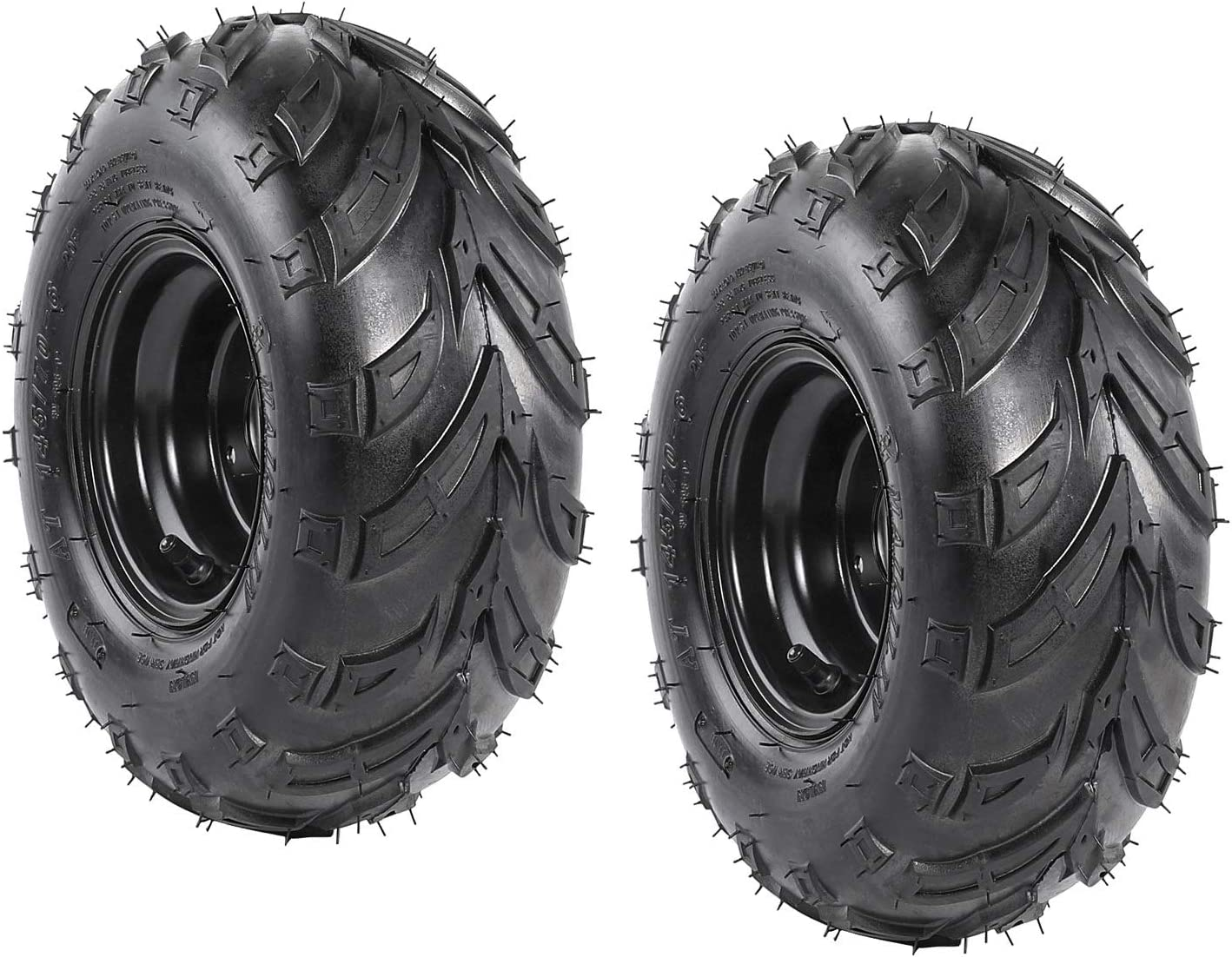 Amazon Com Wphmoto 2 Packs Of 145 70 6 Atv Tires With Rims Wheels For Quad 4 Wheelers Go Kart Mini Bike Lawn Automotive