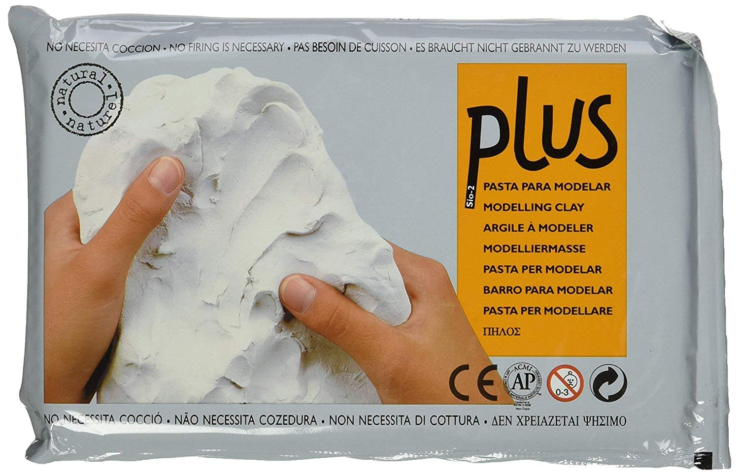 Activa Plus Clay Natural Self-Hardening Clay White 2.2 pounds (Pack of 1)