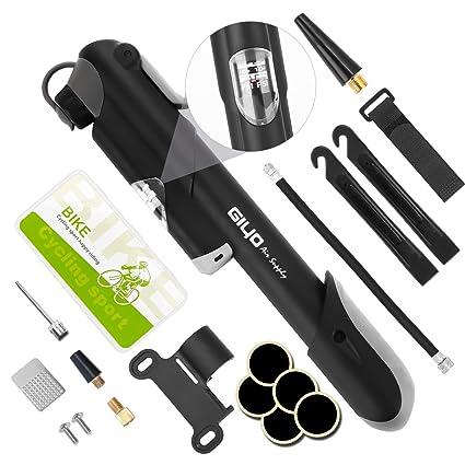 Amazon.com : NewMainone Mini Bike Pump Portable Bicycle Frame Pump ...
