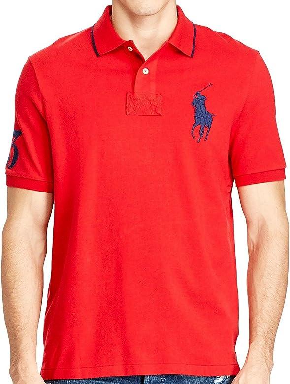 dd94fa6e0899c2 Polo Ralph Lauren Mens Big & Tall Mesh Classic Fit Big Pony Polo Shirt (XLT