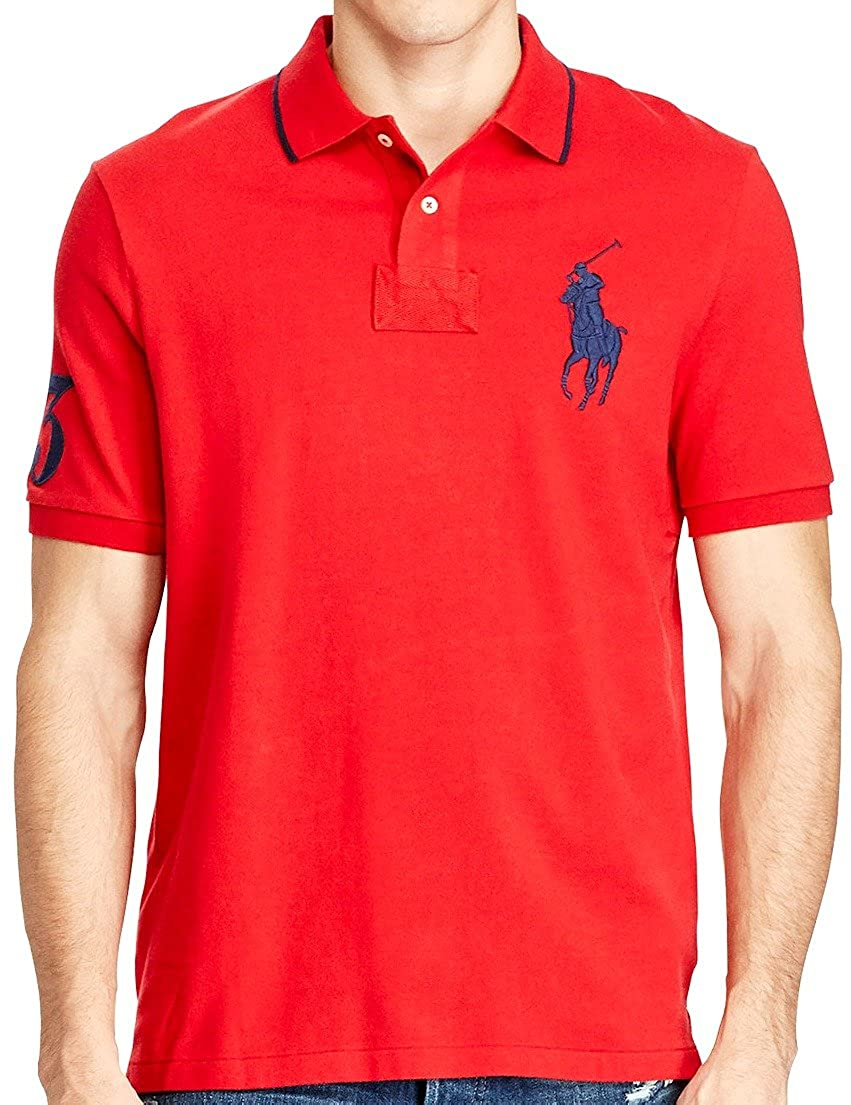 Polo Ralph Lauren Mens Big & Tall Mesh Classic Fit Big Pony Polo Shirt