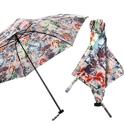 Paraguas Sombrilla Sombrilla Ultra Ligera Plegable Mujer Diosa Luz Accesorios de Lujo Sombrilla QIQIDEDIAN (Diseño